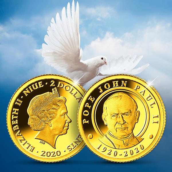 Magyar Éremkibocsátó Kft. - Színarany érme II. János Pál pápa 100. évfordulójára